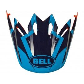 VISIERE BELL MOTO 9 DISTRICT BLEU/ORANGE