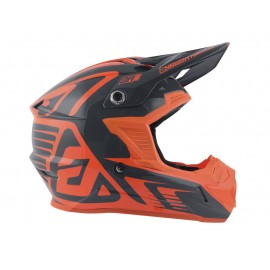 CASQUE ANSWER AR1 EDGE CHARCOAL ORANGE FLUO T.XS DUP'MX