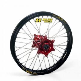 Roue arrière complète Hann Wheels 19x1.85 jante noire/moyeu rouge Honda CRF 250 14-18