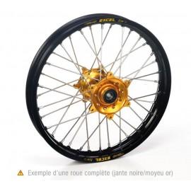 Roue arriere complète Hann Wheels 19X2,15 jante noire/moyeu or Suzuki RMZ 450 05-18