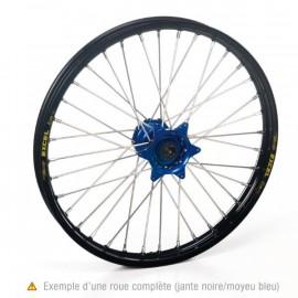 Roue avant complète Hann Wheels 21x1.60 jante noire/moyeu bleu Yamaha YZ 125/250