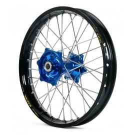 Roue arrière complète Hann Wheels 19x2,15 jante noire/moyeu bleu Yamaha YZ 250