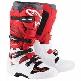 BOTTES ALPINESTARS TECH7 WHITE / RED / BURGUNDY