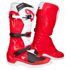 BOTTES MX ALPINESTARS TECH3 RED/WHITE