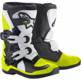 BOTTES ALPINESTARS TECH 3S BLACK WHITE YELLOW FLUO