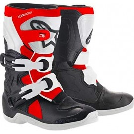 BOTTES ALPINESTARS TECH 3S BLACK WHITE RED FLUO