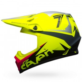 CASQUE BELL MX-9 MIPS SEVEN IGNITE FLUO YELLOW DUP'MX