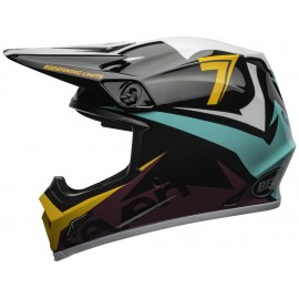 CASQUE BELL MX-9 MIPS SEVEN IGNITE GLOSS BLACK/AQUA T.XS