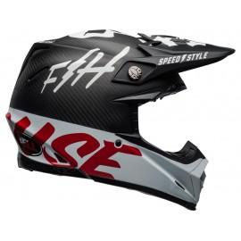 CASQUE BELL MOTO-9 FLEX FASTHOUSE GLOSS BLACK/WHITE/RED T. S