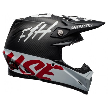 CASQUE BELL MOTO-9 FLEX FASTHOUSE GLOSS BLACK/WHITE/RED T: S