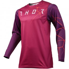 MAILLOT CROSS THOR MX PRIME PRO INFECTION 2019 MAROON RED ORANGE