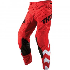PANTALON CROSS THOR MX PULSE STUNNER 2019 ROUGE BLANC