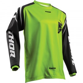 MAILLOT CROSS THOR MX SECTOR ZONES LIME