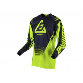 MAILLOT ANSWER SYNCRON DRIFT YOUTH ACID / NOIR Taille S